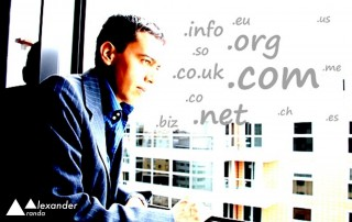 Alexander Aranda surrounded by domain extensions