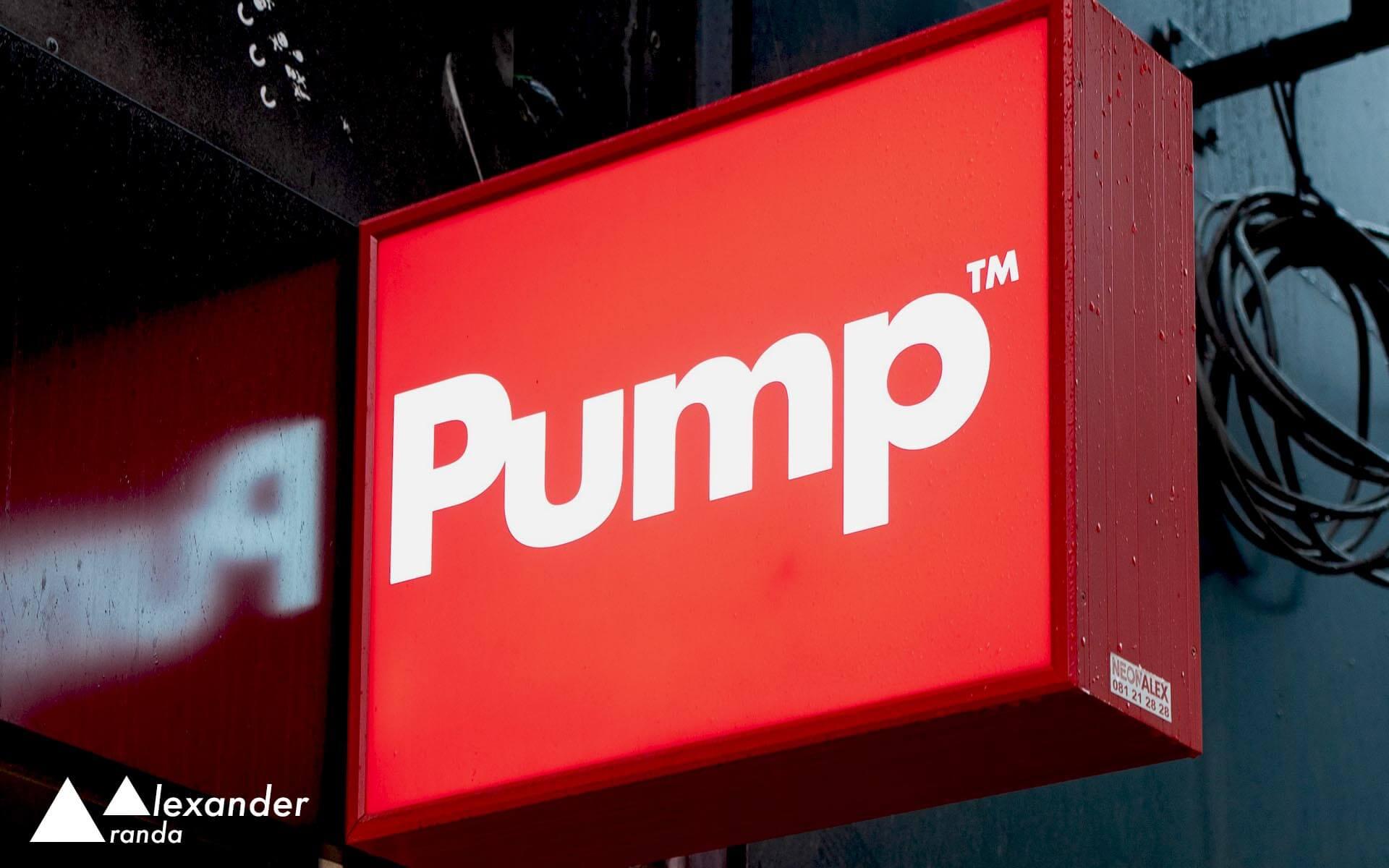 Trademark Pump shop sign