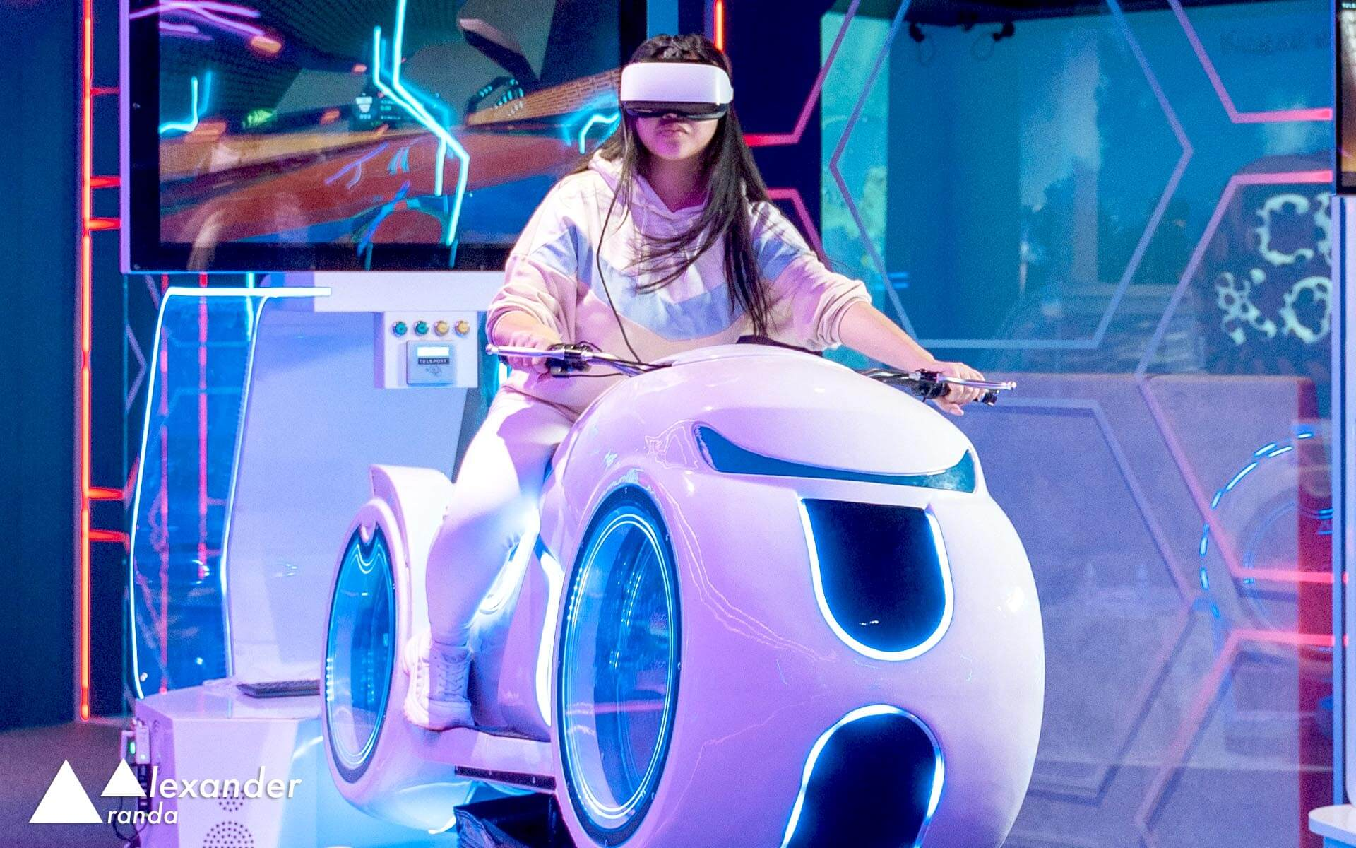 Virtual reality motorbike